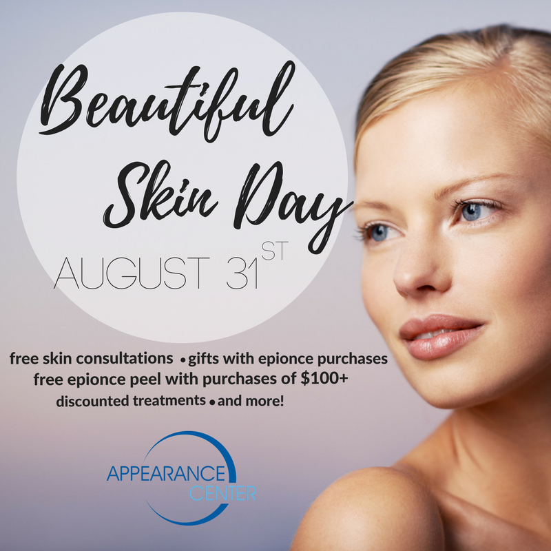 Beautiful Skin Day-Appearance Center-Newport Beach-Orange County-Fashion Island-Epionce-Chemical Peel-Skin Care