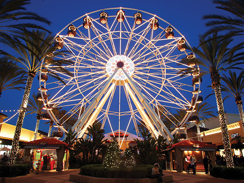 Irvine Spectrum Plaza Orange County California shopping